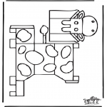 Malvorlagen Basteln - Modellbogen Kuh 1