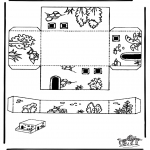 Bibel Ausmalbilder - Modellbogen Pferch
