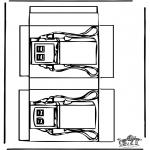 Malvorlagen Basteln - Modellbogen Tankstelle