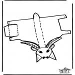 Malvorlagen Basteln - Modellbogen Ziege