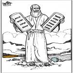 Bibel Ausmalbilder - Mose 4