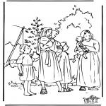Bibel Ausmalbilder - Moses 1