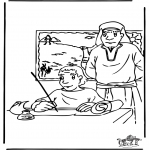 Bibel Ausmalbilder - Moses 3