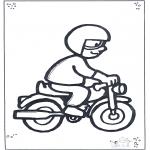 Allerhand Ausmalbilder - Motorfahrer