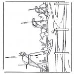 Allerhand Ausmalbilder - Mühlen