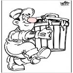 Allerhand Ausmalbilder - Müllmänner