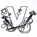 Allerhand Ausmalbilder - Musik Alphabet V