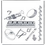 Allerhand Ausmalbilder - Musikinstrumente
