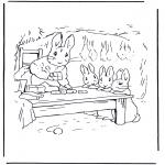 Allerhand Ausmalbilder - Mutter Kaninchen 1