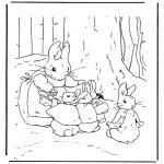 Allerhand Ausmalbilder - Mutter Kaninchen 2