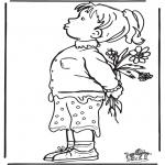 Ausmalbilder Themen - Muttertag 10