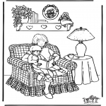 Ausmalbilder Themen - Muttertag 3