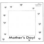 Ausmalbilder Themen - Muttertag Fotobilderrahmen