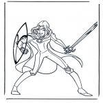 Ausmalbilder Comicfigure - Narnia 5