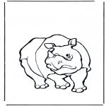 Ausmalbilder Tiere - Nashorn