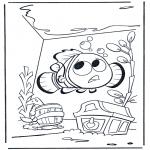 Ausmalbilder für Kinder - Nemo 1