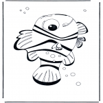 Ausmalbilder für Kinder - Nemo 4