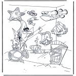 Ausmalbilder für Kinder - Nemo 8