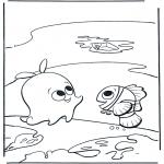 Ausmalbilder für Kinder - Nemo und Sterre