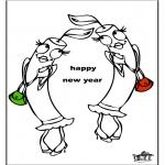 Ausmalbilder Themen - Neujahr 3