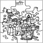 Ausmalbilder Themen - Neujahr - Puzzle
