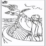Bibel Ausmalbilder - Noah 3