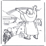Bibel Ausmalbilder - Noah und der Regenbogen