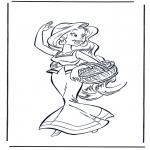Ausmalbilder Comicfigure - Obelix Freundin