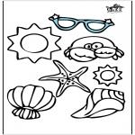 Allerhand Ausmalbilder - Objekte des Sommers
