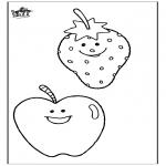 Allerhand Ausmalbilder - Obst 2