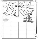 Malvorlagen Basteln - Octopus malen