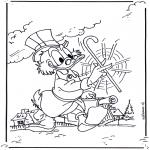 Ausmalbilder Comicfigure - Onkel Dagobert 2