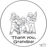 Malvorlagen Basteln - Opa danke