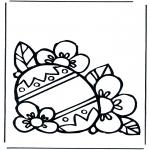 Ausmalbilder Themen - Osterei 1