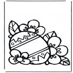 Ausmalbilder Themen - Osterei 3