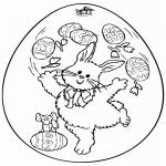 Ausmalbilder Themen - Osterei 7