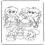 Ausmalbilder Themen - Ostereier malen