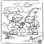Ausmalbilder Themen - Ostereier suchen