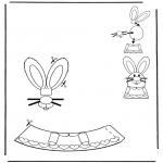 Ausmalbilder Themen - Ostereischmuck 1