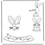 Ausmalbilder Themen - Ostereischmuck 4
