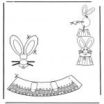 Ausmalbilder Themen - Ostereischmuck 5