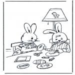 Ausmalbilder Themen - Osterhase 11