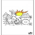 Ausmalbilder Themen - Osterhase 13