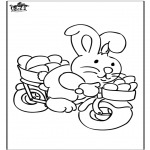 Ausmalbilder Themen - Osterhase 19
