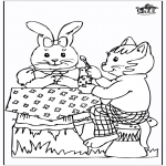 Ausmalbilder Themen - Osterhase 20