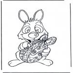 Ausmalbilder Themen - Osterhase mit Ei