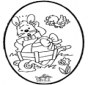 Osterhase Stechkarte 1