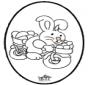 Osterhase Stechkarte 2