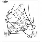 Ausmalbilder Themen - Osterküken 2
