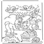 Ausmalbilder Themen - Ostern 1